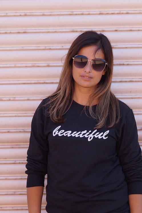 Black Beautiful Sweatshirt