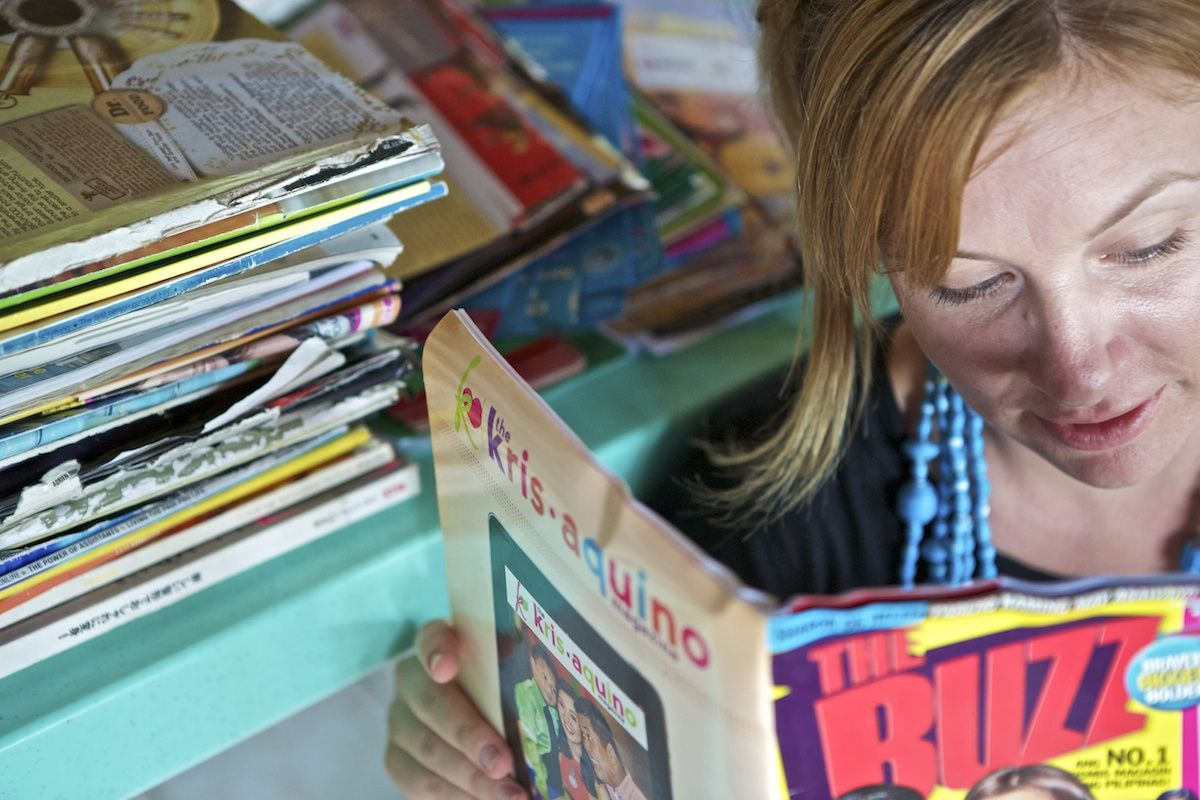 We accept donated magazines, leaflets, school projects, cartolina, receipt books and more