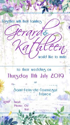 kat & gerry wedding invitation RSVP priv
