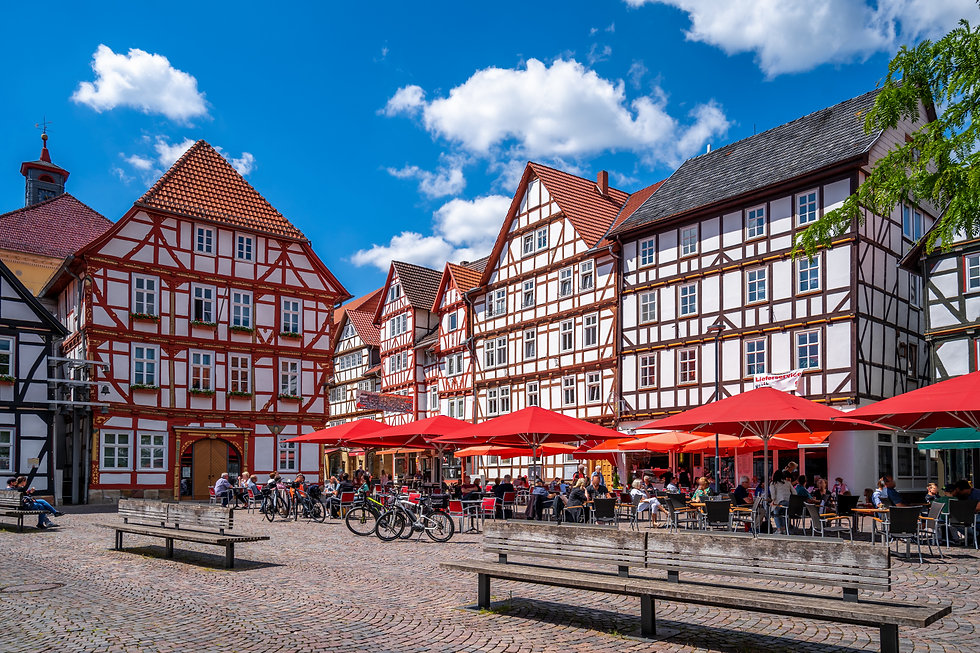 Market place in Eschwege, Hessen, German