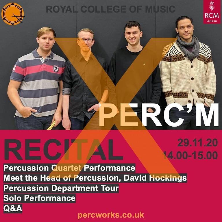 PERC'M // Royal College of Music Percussion Quartet