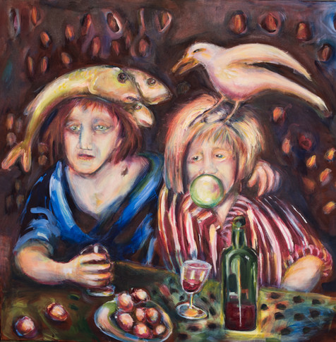 We Two Acrylic on canvas 100x100cm