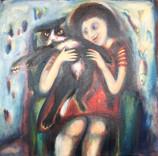 Purr Acrylic on canvas 60x60cm