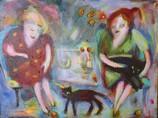 Friends Acrylic and oil on canvas  40x30cm
