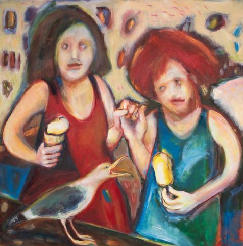 Dialogue Acrylic on canvas 100x100cm