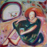Quality Time Acrylic and oil on canvas 60x60cm