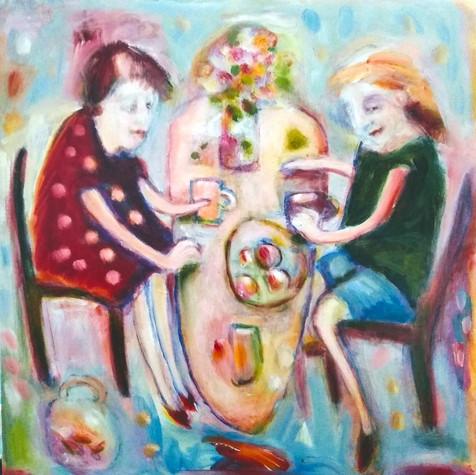 True Acrylic and oil on canvas 60x60cm