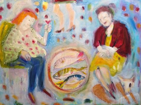 Friends Acrylic and oil on canvas 60x80cm