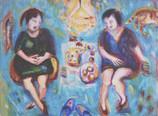 Two for Tea Acrylic on canvas 80x60cm