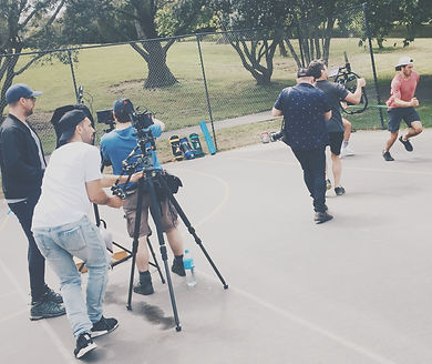 ASB Visa Light shoot at Grey Lynn Park with DOP James Rua an Director Dan Martin wih With Collective and The Hood and Co