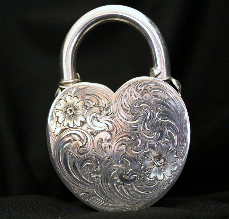 Back side of the padlock