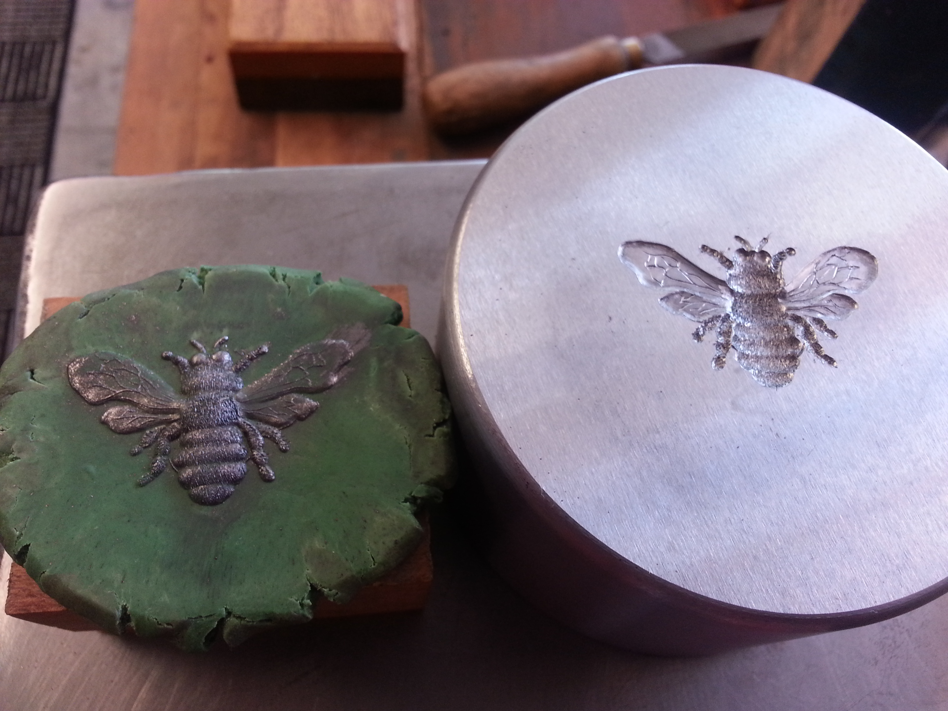 Hand Carved Bee Die