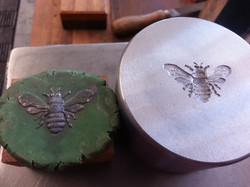 Hand Carved Bee Die