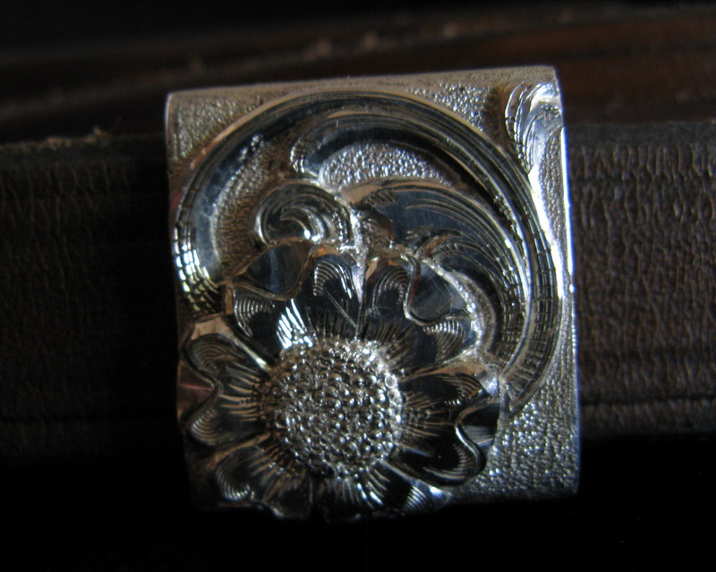 Sterling Silver Belt Buckle- keeper