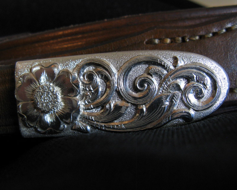 Sterling Silver Belt Buckle - tip