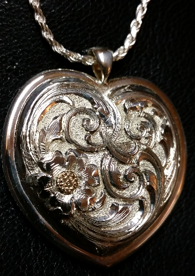 High Domed Overlaid/Sculpted Pendant