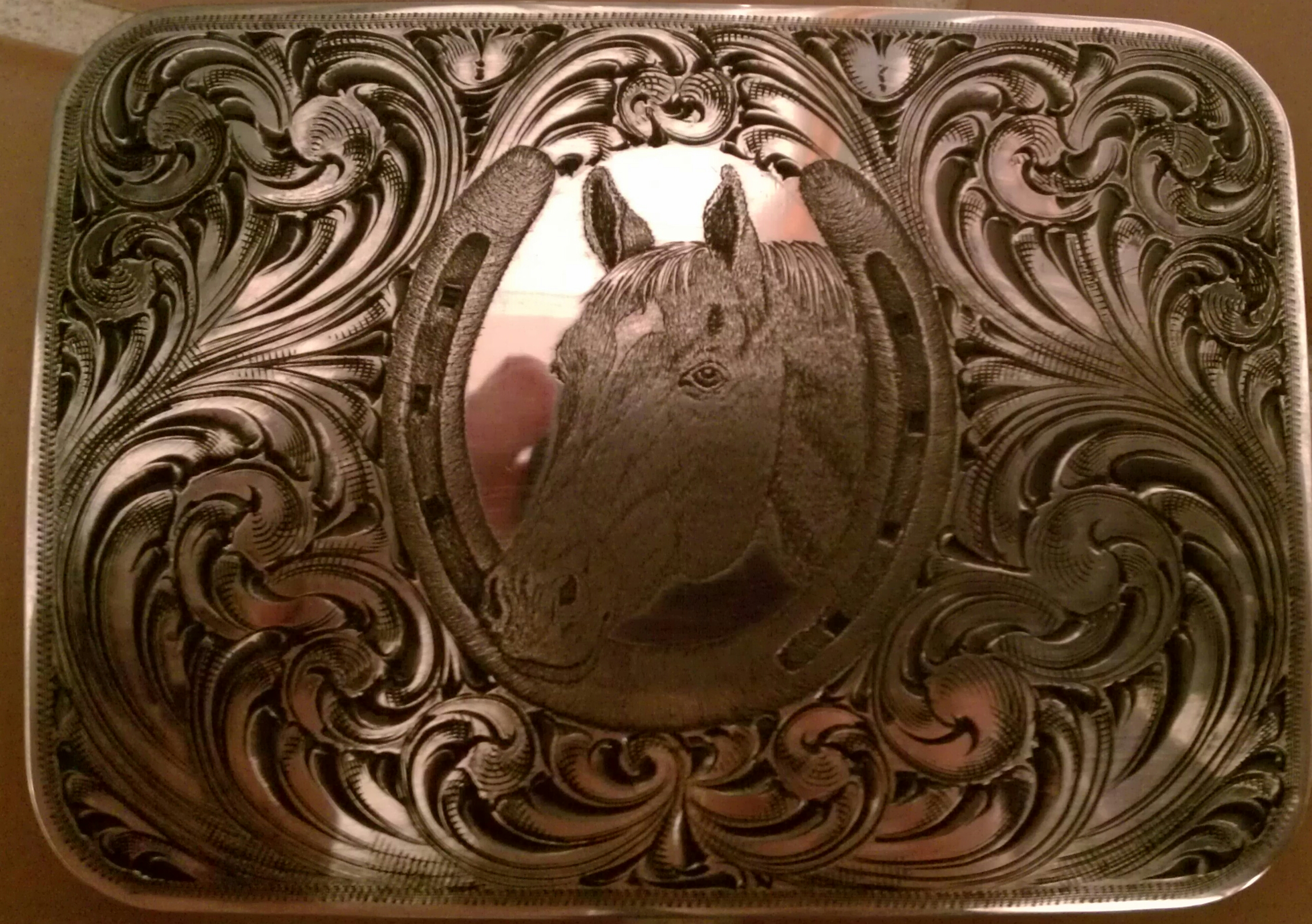 Sterling Buckle with Bulino Horse