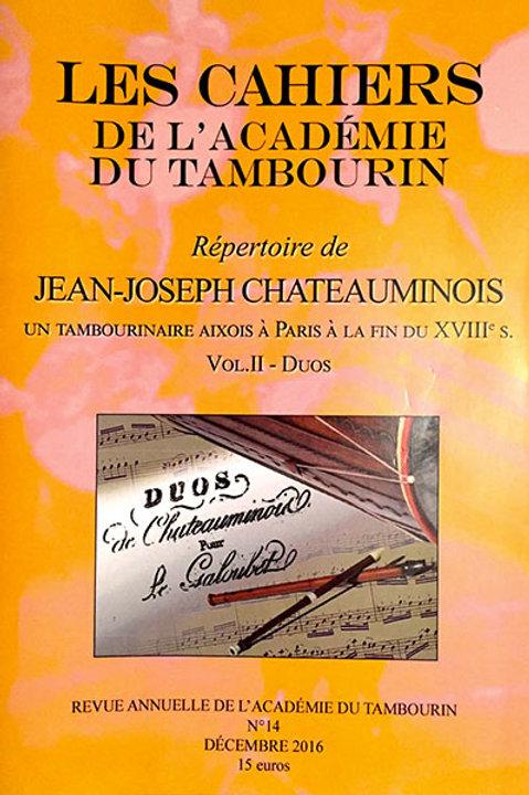Répertoire de Jean-Joseph Chateauminois - Volume 2