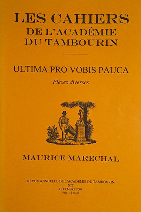 Ultima pro vobis poca - Maurice Maréchal