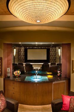 View of home theater from outside