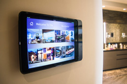 Wall mounted iPad touchscreen
