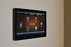 Wall mounted Control4 touch panel