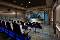Luxury apartment community theater