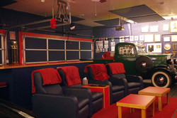 Blue & red UofA themed mancave