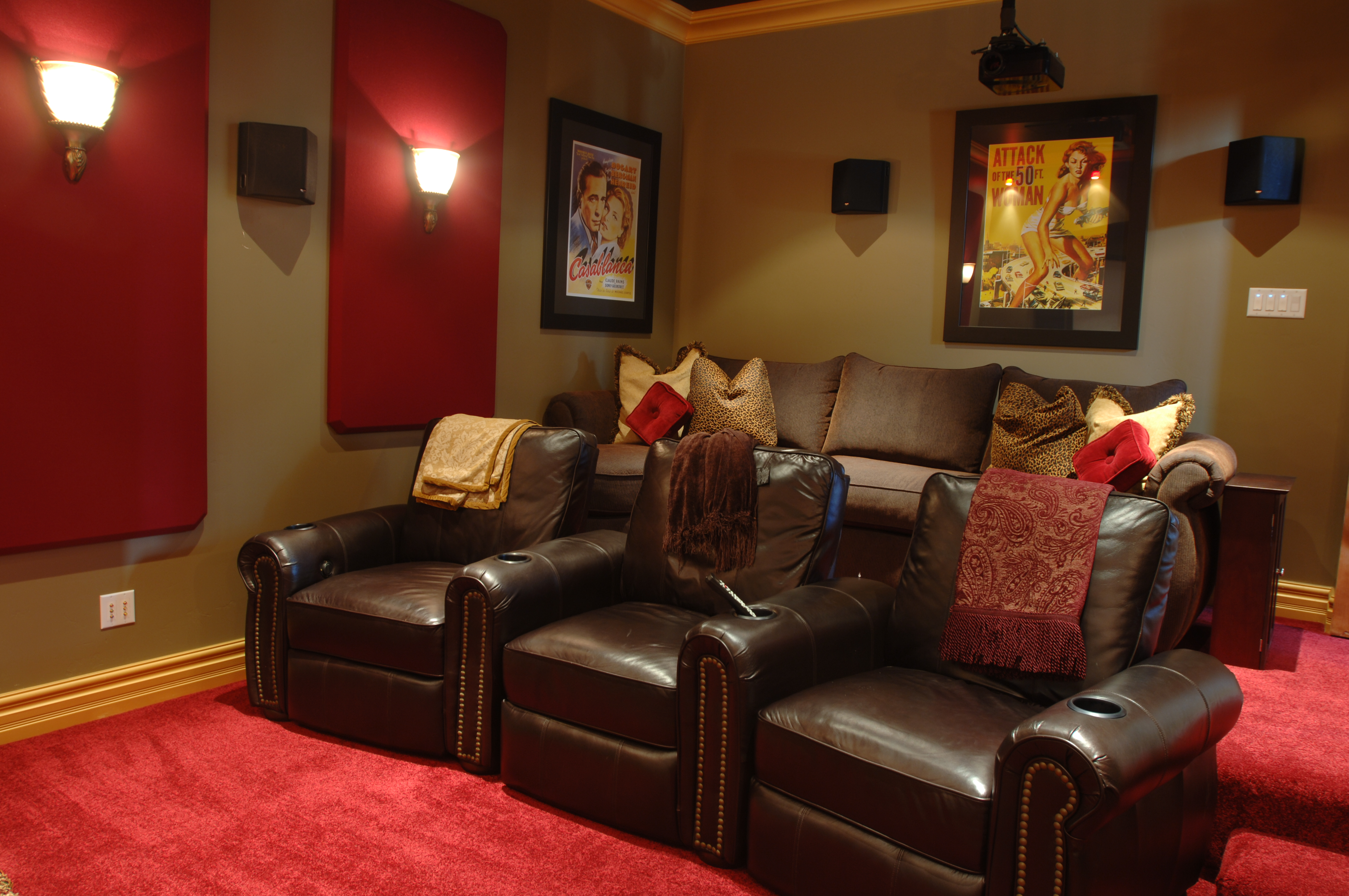 Luxurious leather theater seating