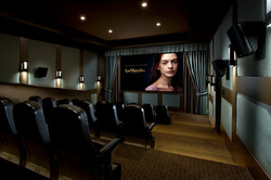Luxury apartment complex theater