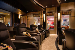 Luxurious home cinema with a view