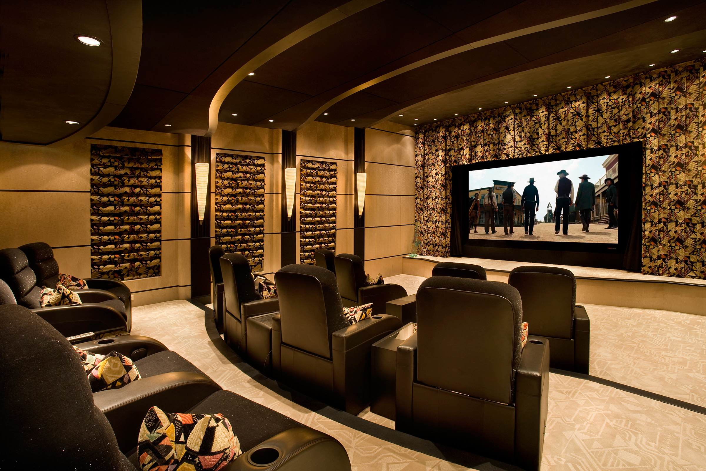 Fully-loaded custom home theater