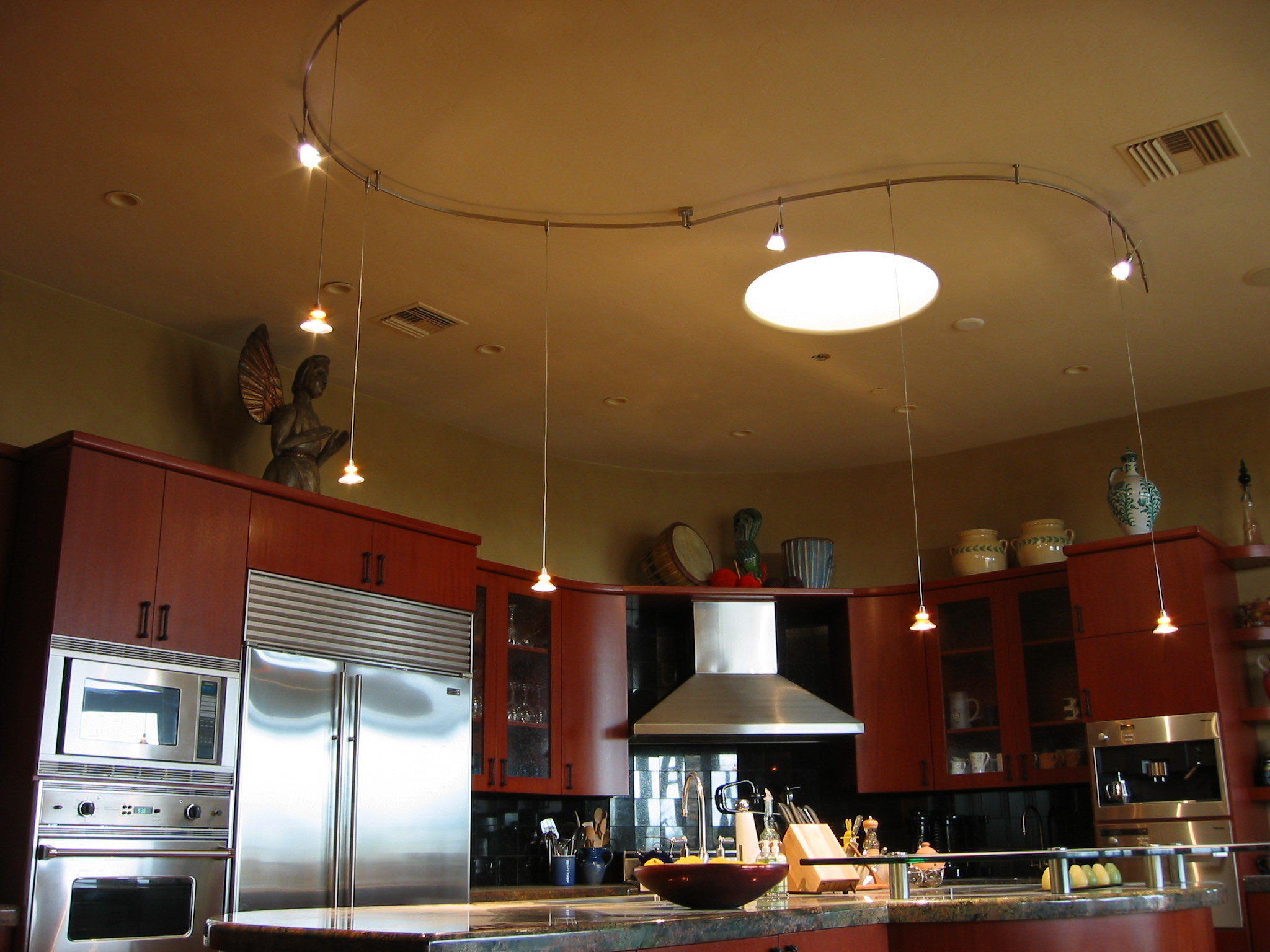 Custom kitchen lighting design