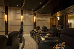 Rows of custom home theater seats