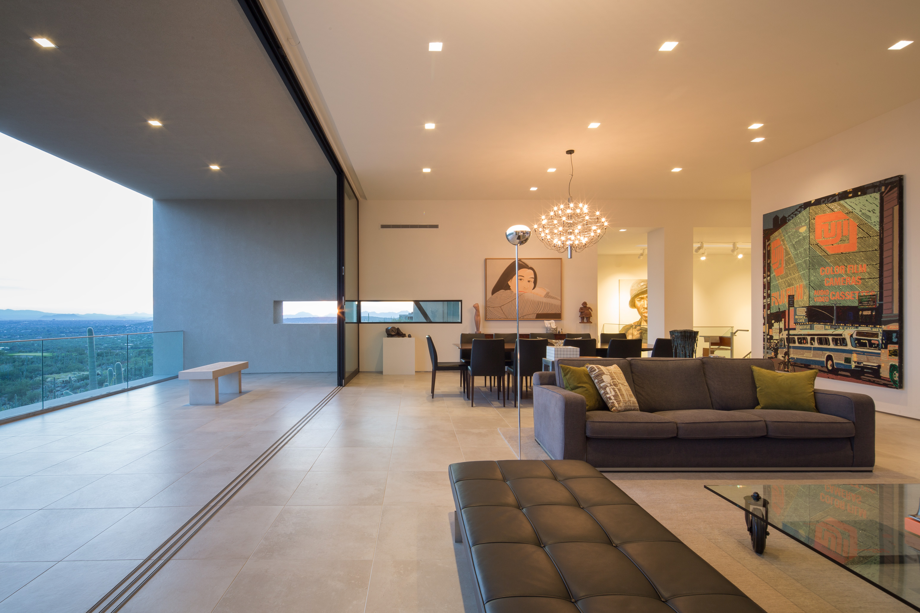 Luxury home with giant sliding doors
