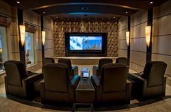 Custom home theater center view