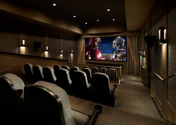 Theater in luxury apartment complex
