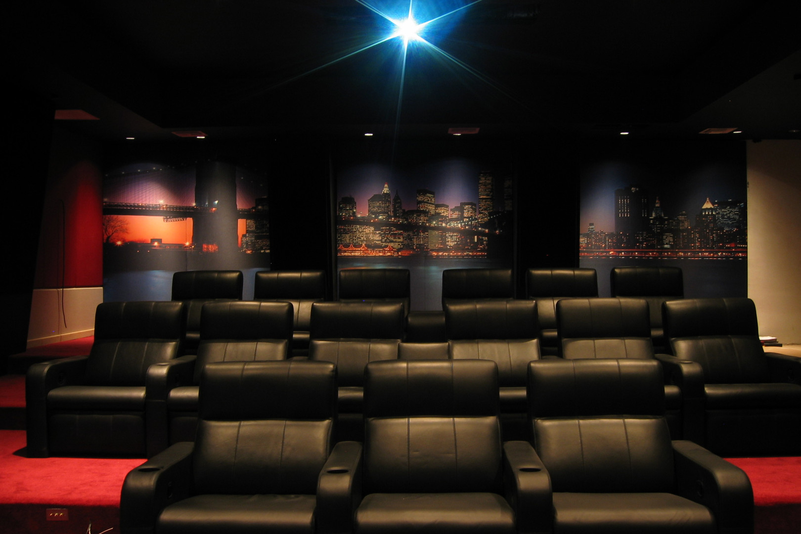 City themed custom home theater