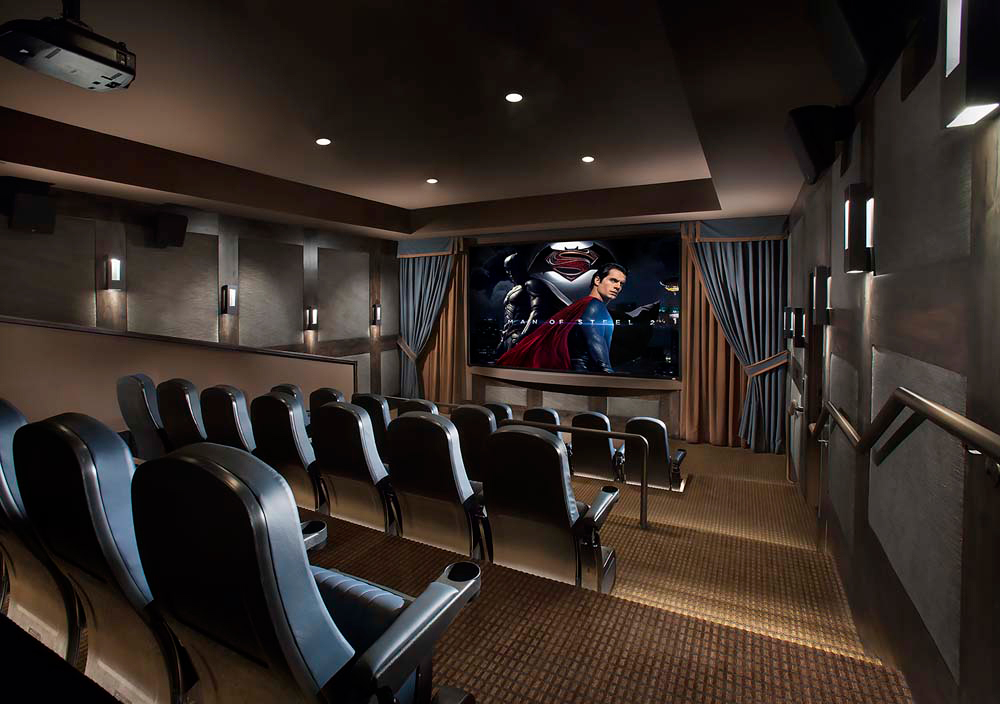 High end apartment complex theater