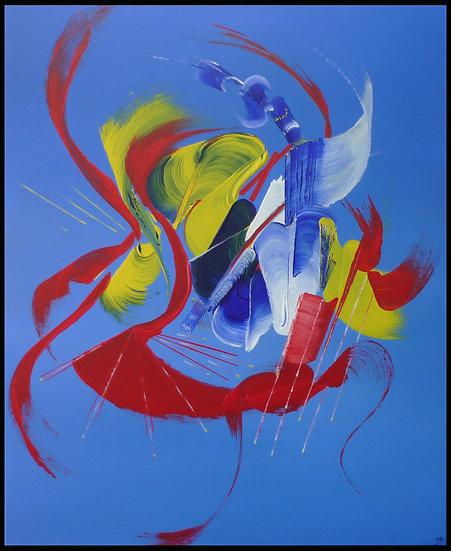 Peinture abstraite Fleur de toile