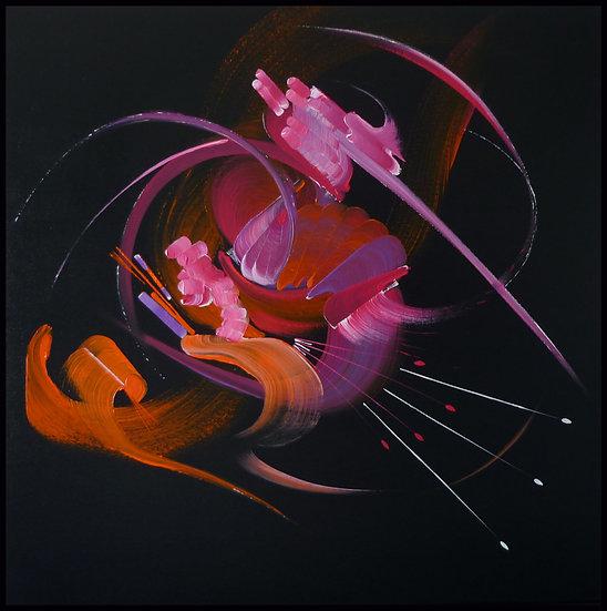 Peinture abstraite Songe d'une nuit