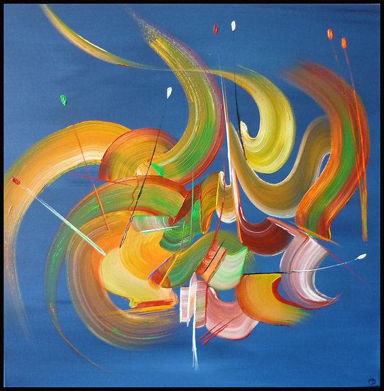 Peinture abstraite Les rubans