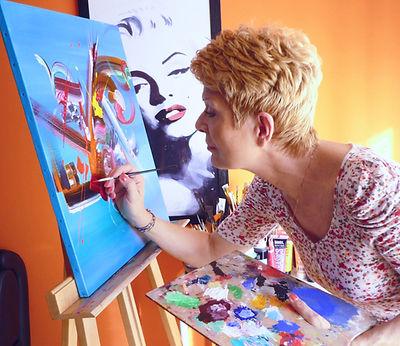 Ma peinture sur toile | Martine Belfodil | Artiste peintre abstrait | Vente de peintures contemporaines modernes