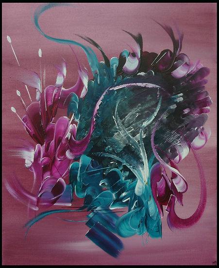 Peinture abstraite Le cache cachette