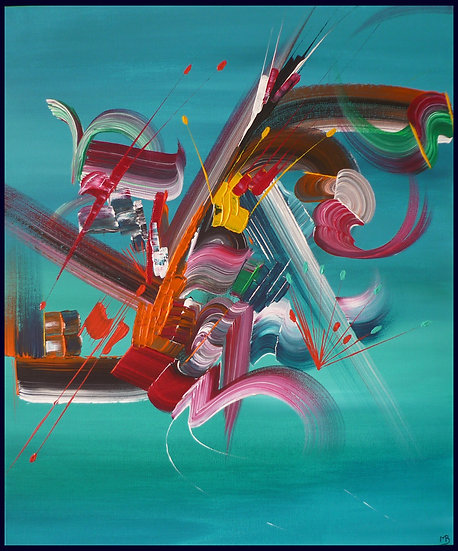 Peinture abstraite Fusion