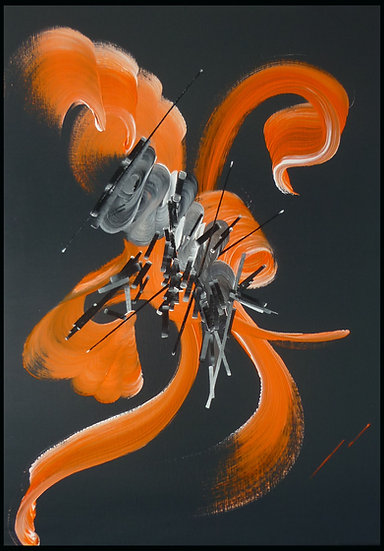 Peinture abstraite Poésie des leurres