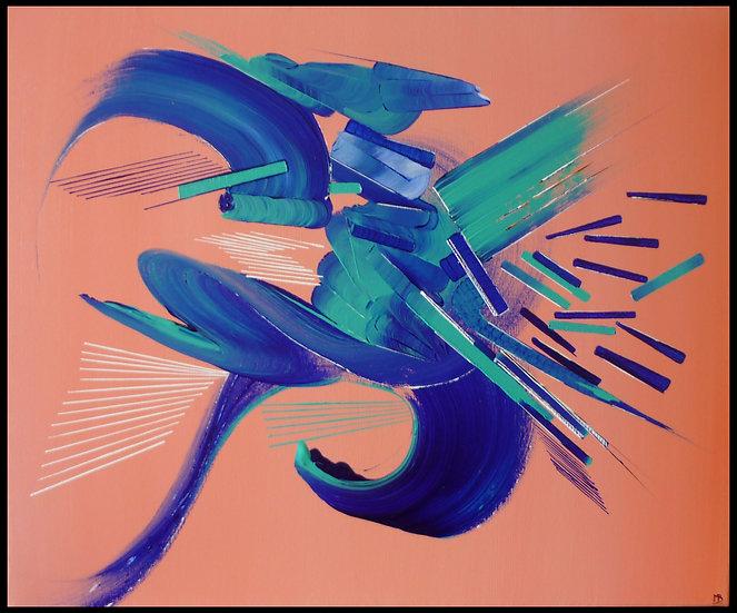 Peinture abstraite Métamorphose