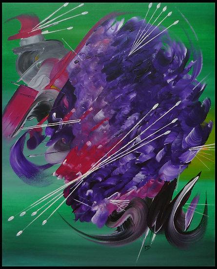 Peinture abstraite Le tourbillon