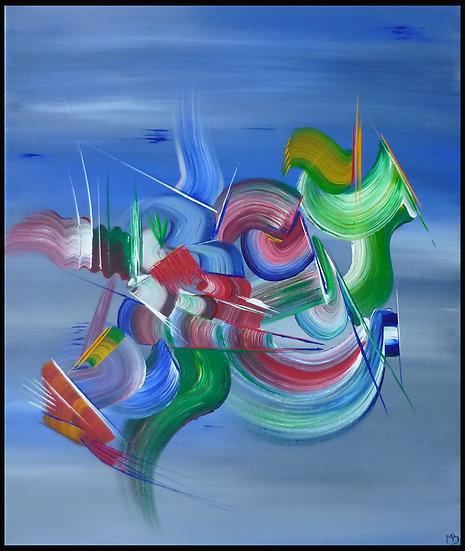 Peinture abstraite Chimère