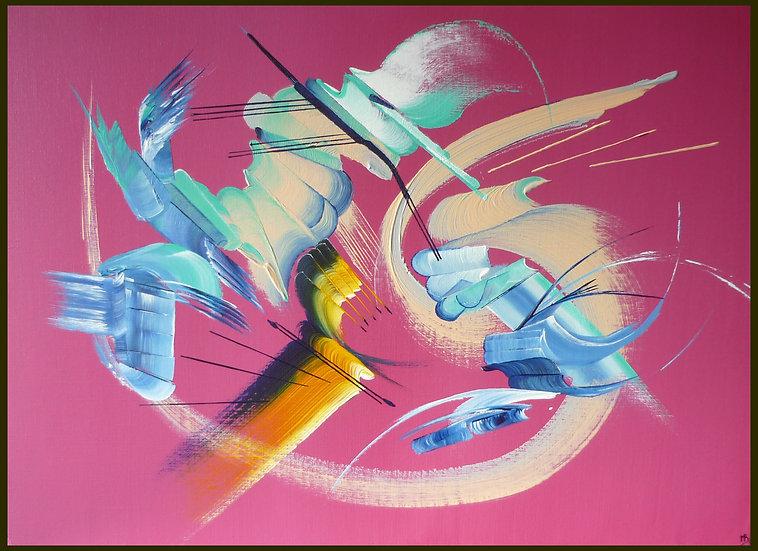 Peinture abstraite L'intrus